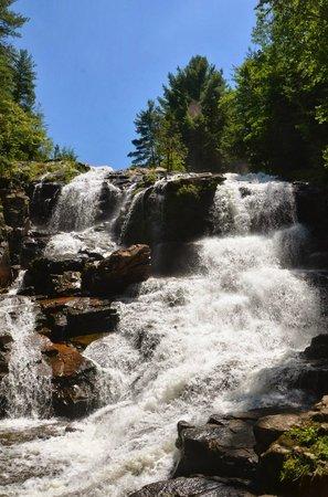 Shelving Rock Falls: View of the falls