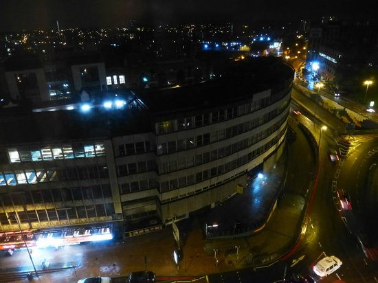 Radisson Blu Hotel, Birmingham: View from room at night