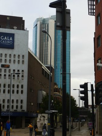 Radisson Blu Hotel, Birmingham: View of hotel from New Street Station