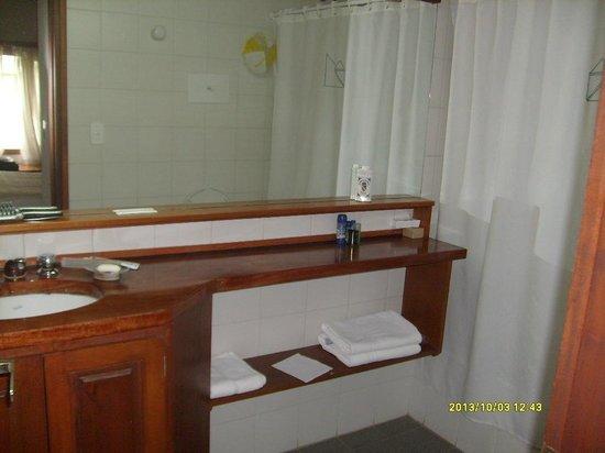 Rincon de los Andes: Baño sin ningún elemento...salvo jabón