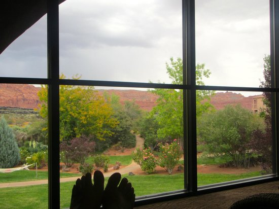 Red Mountain Resort: View from the Relaxation Room in the Spa