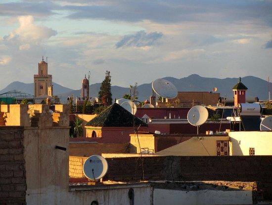 Riad Mehdia : vue depuis la terrasse