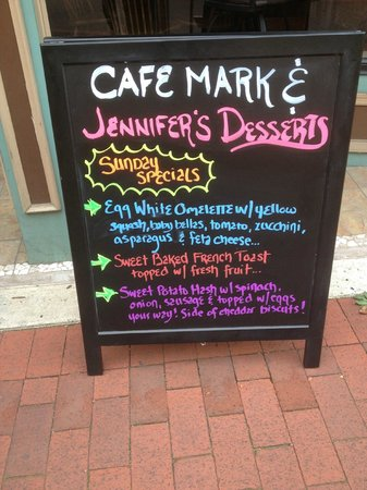 Cafe Mark: Fun menu