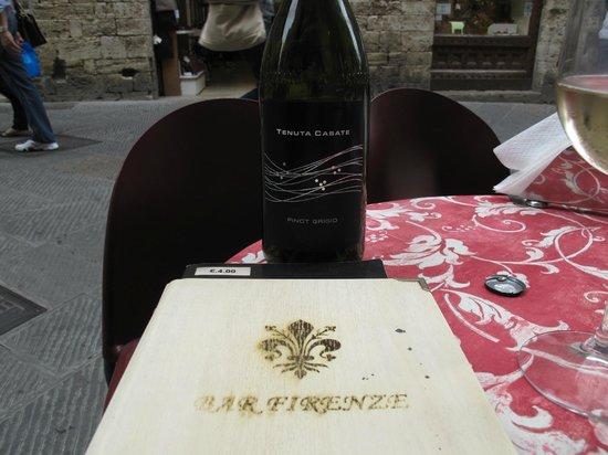 Bar Firenze: Menu and wine
