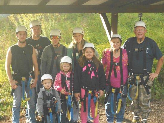 Canopy Ridge Farm: Our group zlpline photo