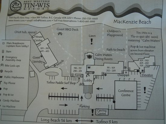 Best Western Tin Wis Resort: Map of the property
