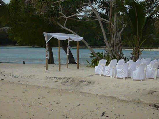 Erakor Island Resort & Spa: Ceremony being set up