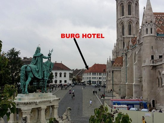 Burg Hotel: View of Hotel Burg From Fisherman's Bastion