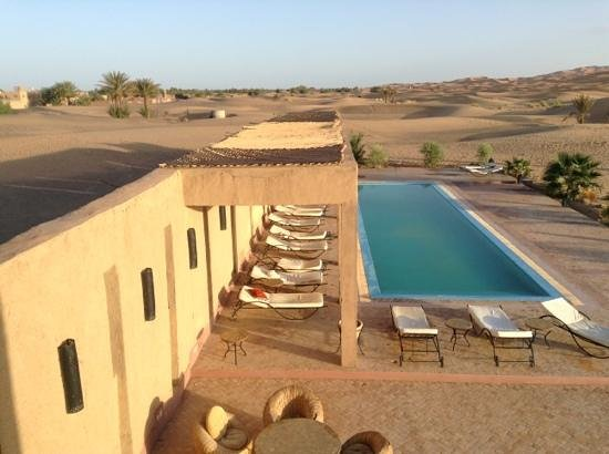 Hotel Kasbah Kanz Erremal: The hotel pool, viewed from our room