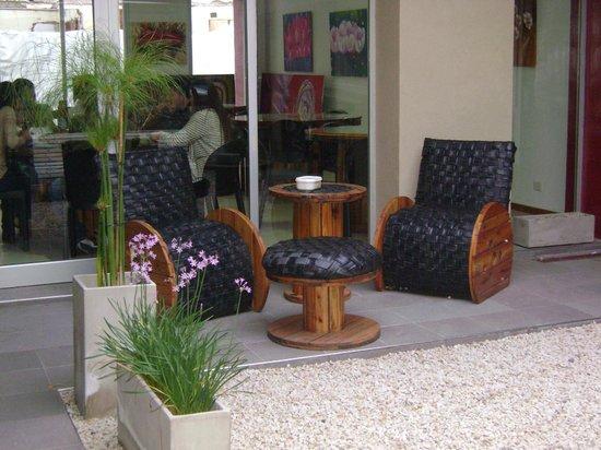 UNICO Eco Hostel Boutique : Patio interno