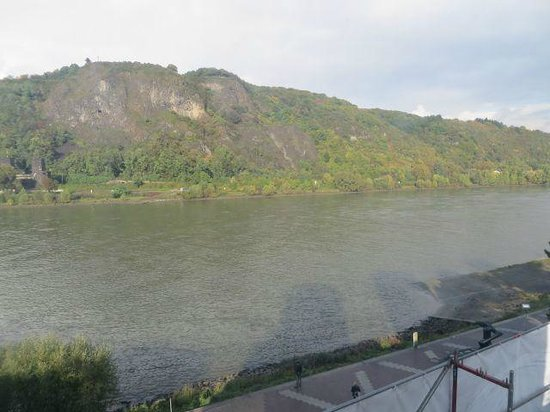Peace Museum - Bridge at Remagen: Looking across the Rhine River to the other side.