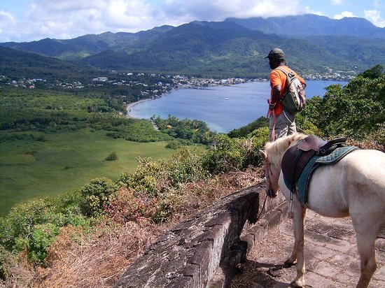 Rainforest Riding : Overlooking Prince Ruperts Bay in Portsmouth ,Dominica