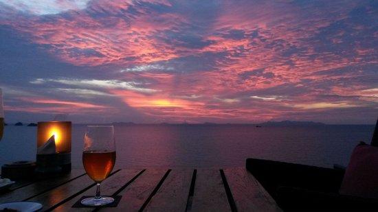 Air Bar,Samui: sunset from airbar