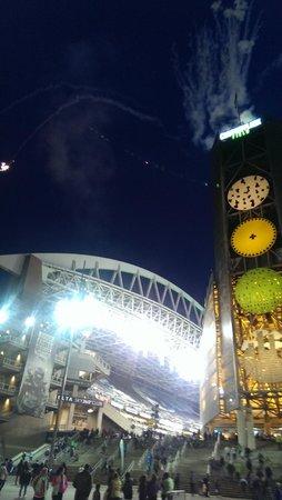 CenturyLink Field: Fireworks!