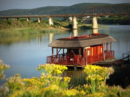Sunday's River Adventures : The Hills you see behind the Bridge, is in the Addo Elephant Park.