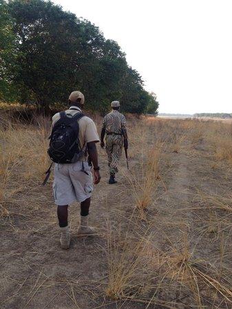 Tena Tena Camp : walking with Bertram and Robert