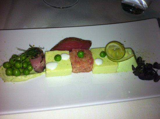 Schlosshotel Chaste : Entrée variation de saumon