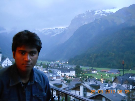 Edelweiss Engelberg : From The Balcony of Hotel Room-Kshitij