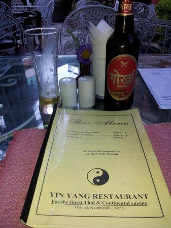Yin Yang Restaurant: menu