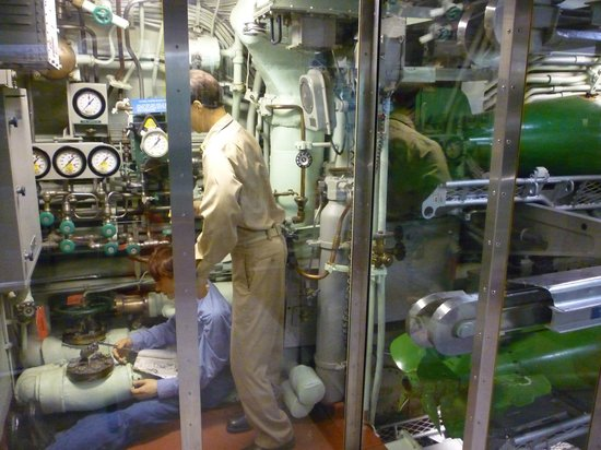 The Submarine Force Museum: Cramped working conditions