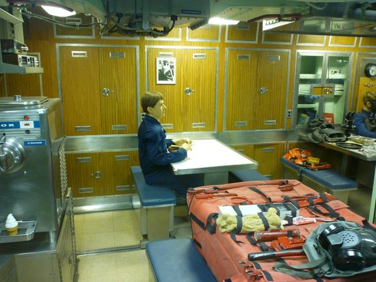 The Submarine Force Museum: Mess hall