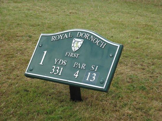 Royal Dornoch Golf Club: 'On the tee now.....'