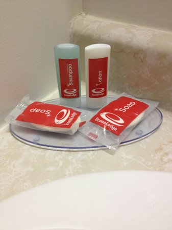 Rodeway Inn Wasteful Disposable Toiletries Bulk Dispensers Like In Scandinavia Would Be Better