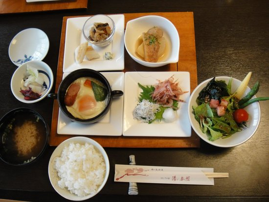 Yunoshimakan: 朝食①