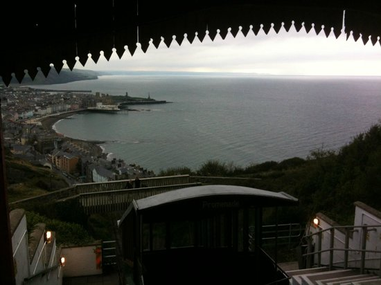 Aberystwyth Cliff Railway: View from the top station