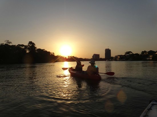 Australian Kayaking Adventures: beautiful sunset