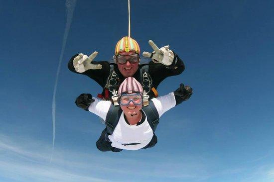 Peterlee Parachute Centre: Posing for the camera