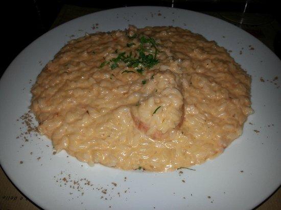Gibraltar Taverna Mediterranea: risotto alla crema di scampi
