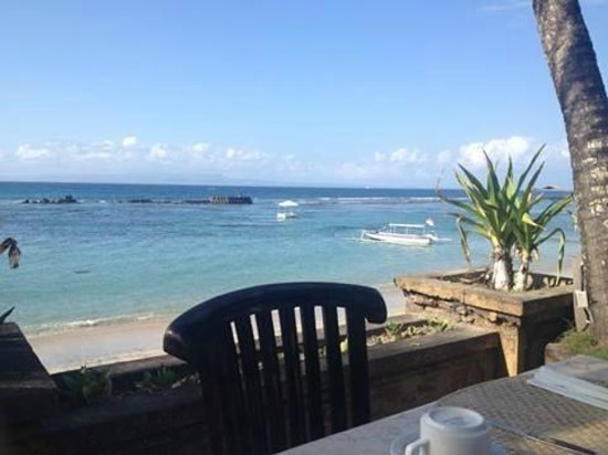 Candi Beach Resort & Spa: View from the breakfast area