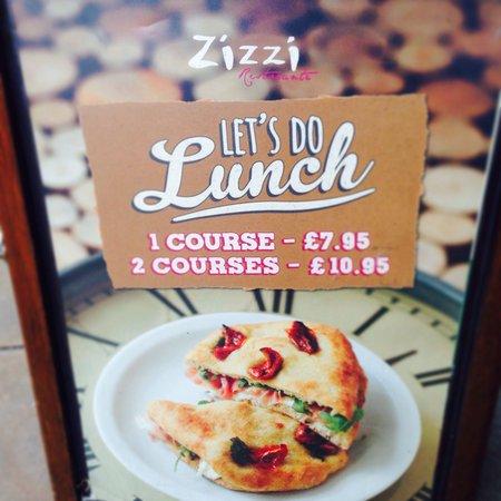 Zizzi - Leeds: A great lunch time menu!