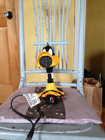 Duck Inn: The duck theme turns up in unexpected places. Here, a hairdryer.