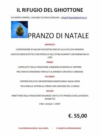 Menu Di Natale Milano.Menu Di Natale Foto Di Il Rifugio Del Ghiottone Milano
