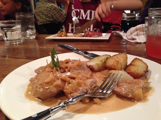 Allez : pork loin special with red potatoes. perfectly cooked.