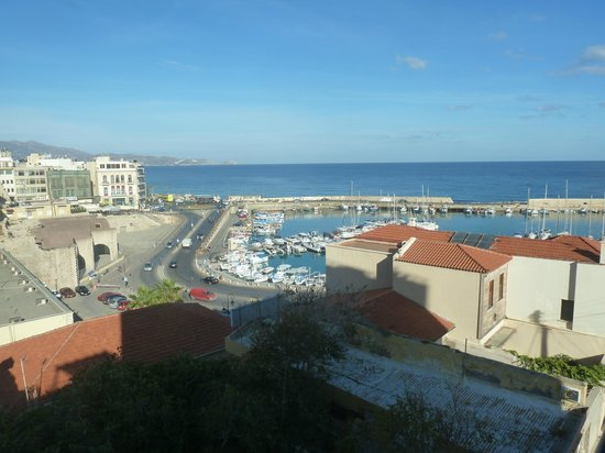 Lato Boutique Hotel: This is the view from the first room we had, third floor