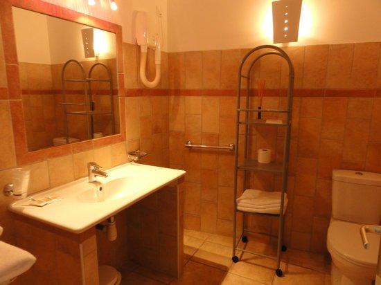Hôtel Les Eucalyptus : La salle d'eau