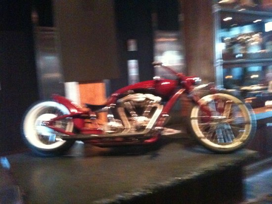 The Iron Horse Hotel : Harley in Lobby