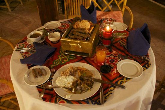 Caribbean World Resorts Soma Bay: Стол египетского ресторана