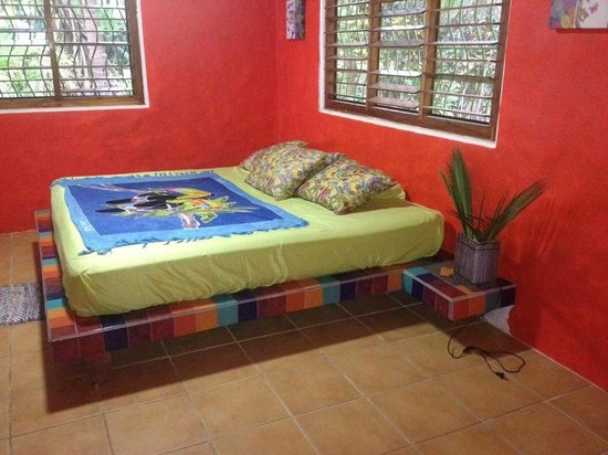 Dos Palmas Beach Cabinas: 1 of the cabinas- king size bed