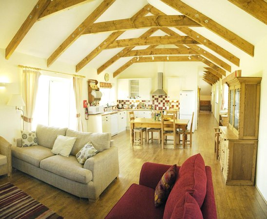 Pollaughan Holiday Cottages: Gorgeous open light space in Meadows Barn