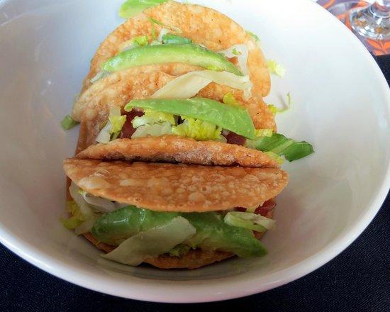 Sheraton Columbus at Capitol Square Hotel: Ahi Tuna Tartare Tacos
