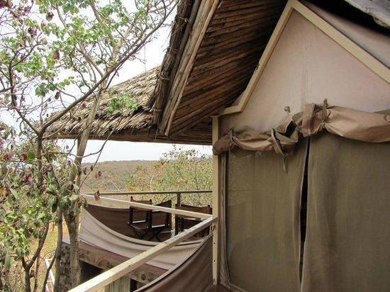 Kirurumu Manyara Lodge: Tent entrance