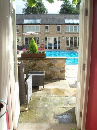 Feversham Arms Hotel & Verbena Spa : View through the French windows