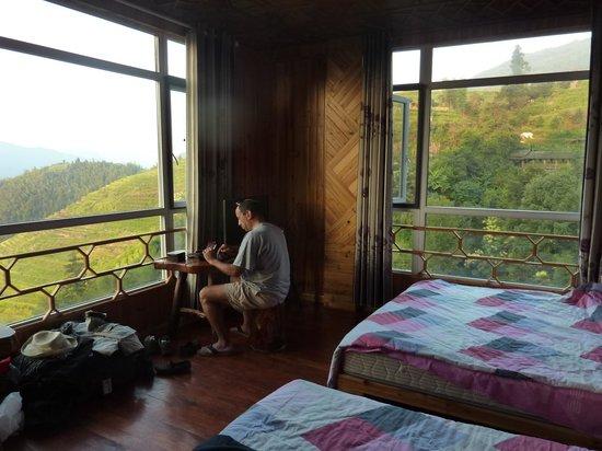 Baike Hotel : panoramic room view