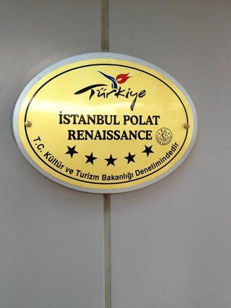 Renaissance Polat Istanbul Hotel: Узнаваемый логотип