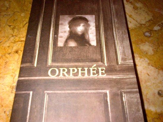 Orphée Restaurant : menu