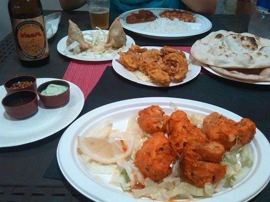 Tandoori Indian Food : le pietanze ordinate
